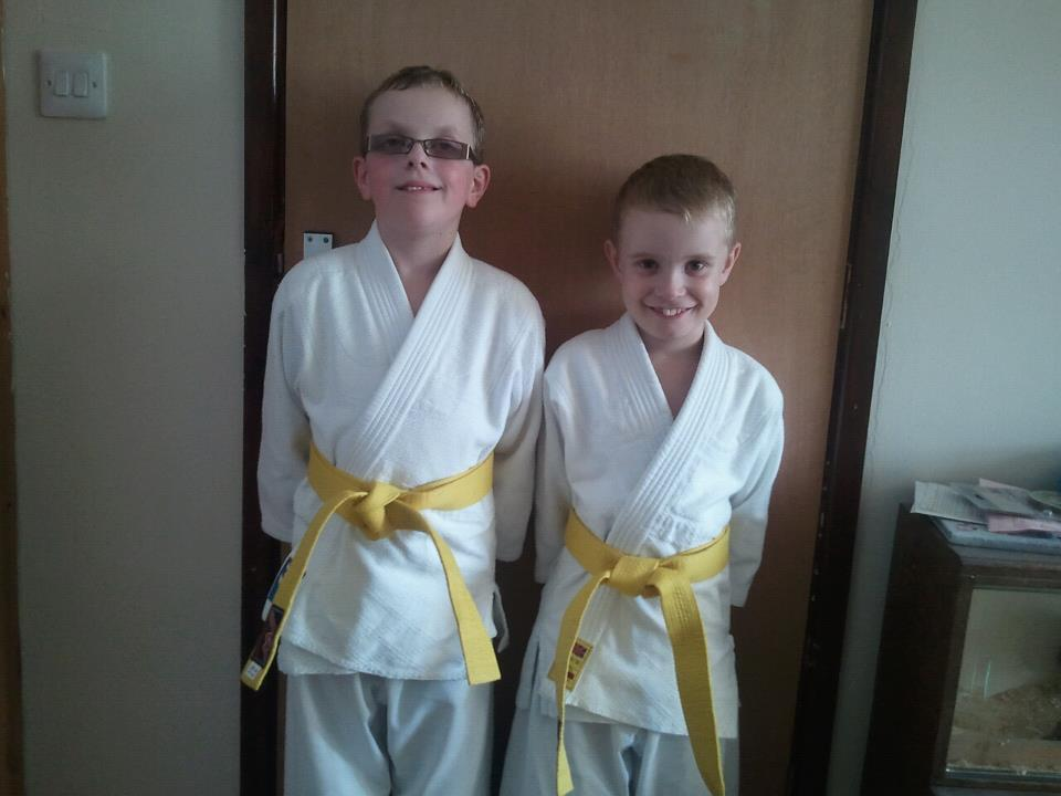 connor and ethan yellow belt